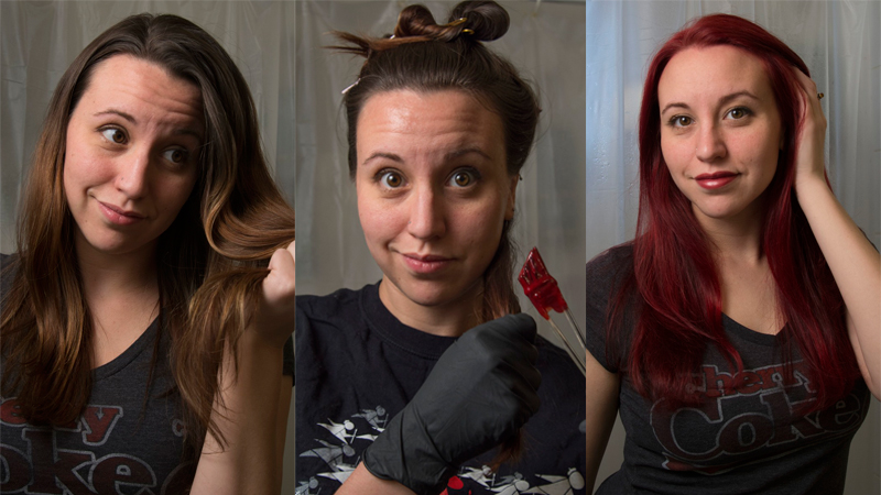 How To Dye Your Brown Hair Red Without Bleach If You\'re In The ...