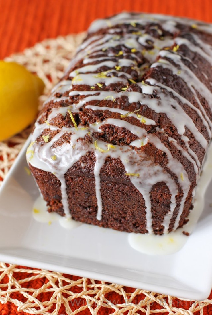 Gingerbread Quick Bread Lemon Glaze, National Homemade Bread Day, Food