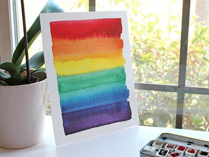 8 rainbow decor ideas to celebrate pride month 2016 bustle for Gay bedroom ideas