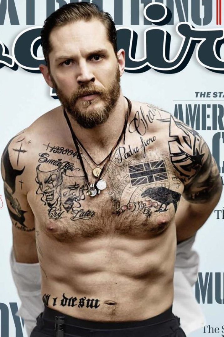 Tom Hardys Tattoos From The Esquire Magazine Cover Dissected