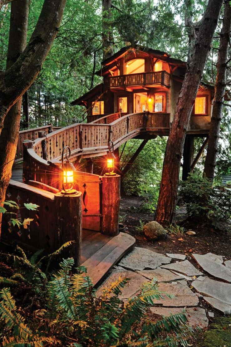 Out Of This World One Of The Tree Houses As Part Of The Treehotel - Let s admit it at one point or another we all wished we lived in a treehouse so did the danilchik family except they made their dream a reality and