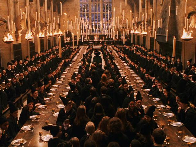 harry potter dining hall