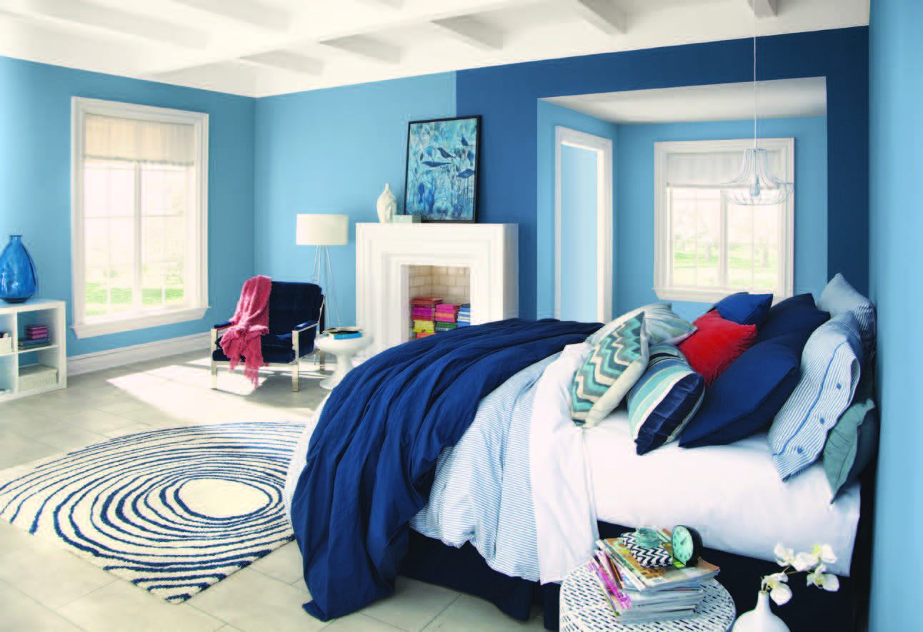Blue Master Bedroom Decorating Ideas how to paint your walls to make any space look bigger