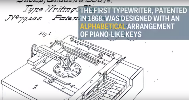 Why are typewriter keys arranged the way they are?