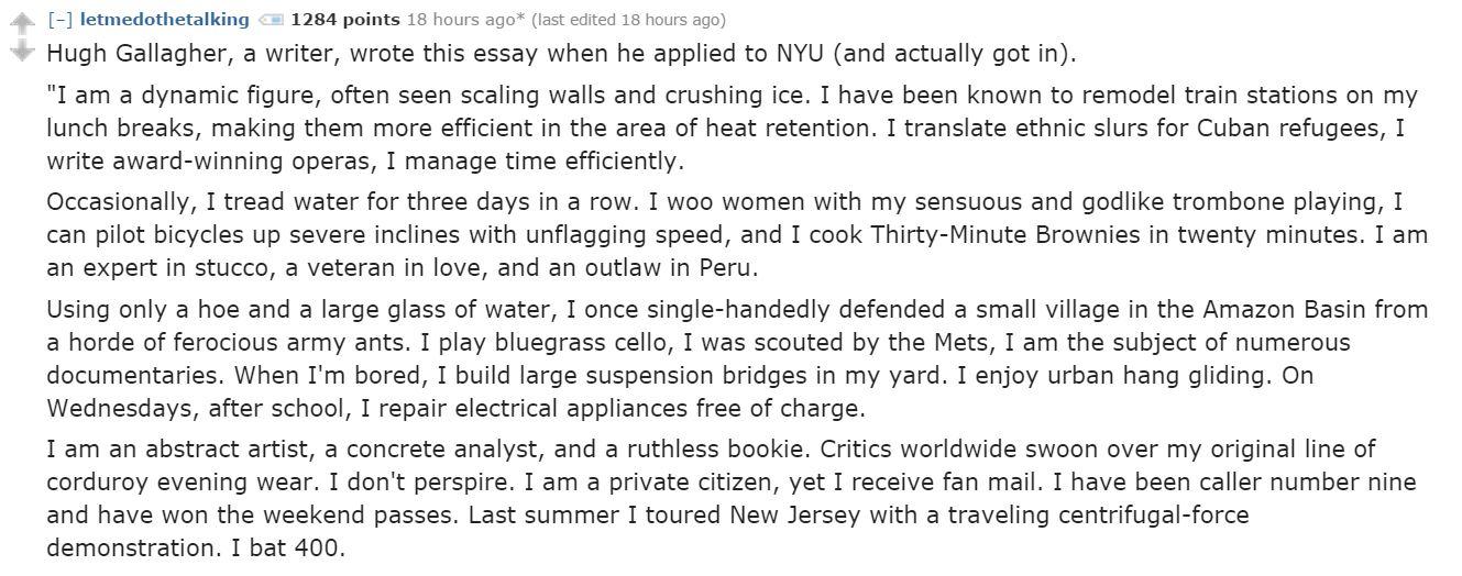 nyu college essay