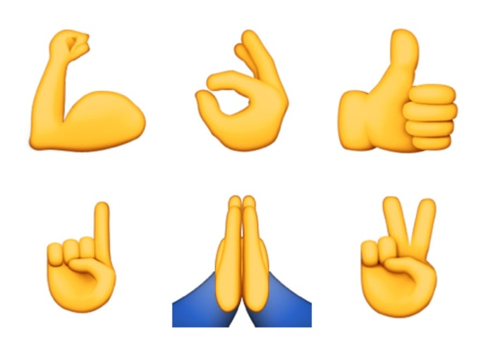 What do all the hand emojis mean or how to know when to use prayer