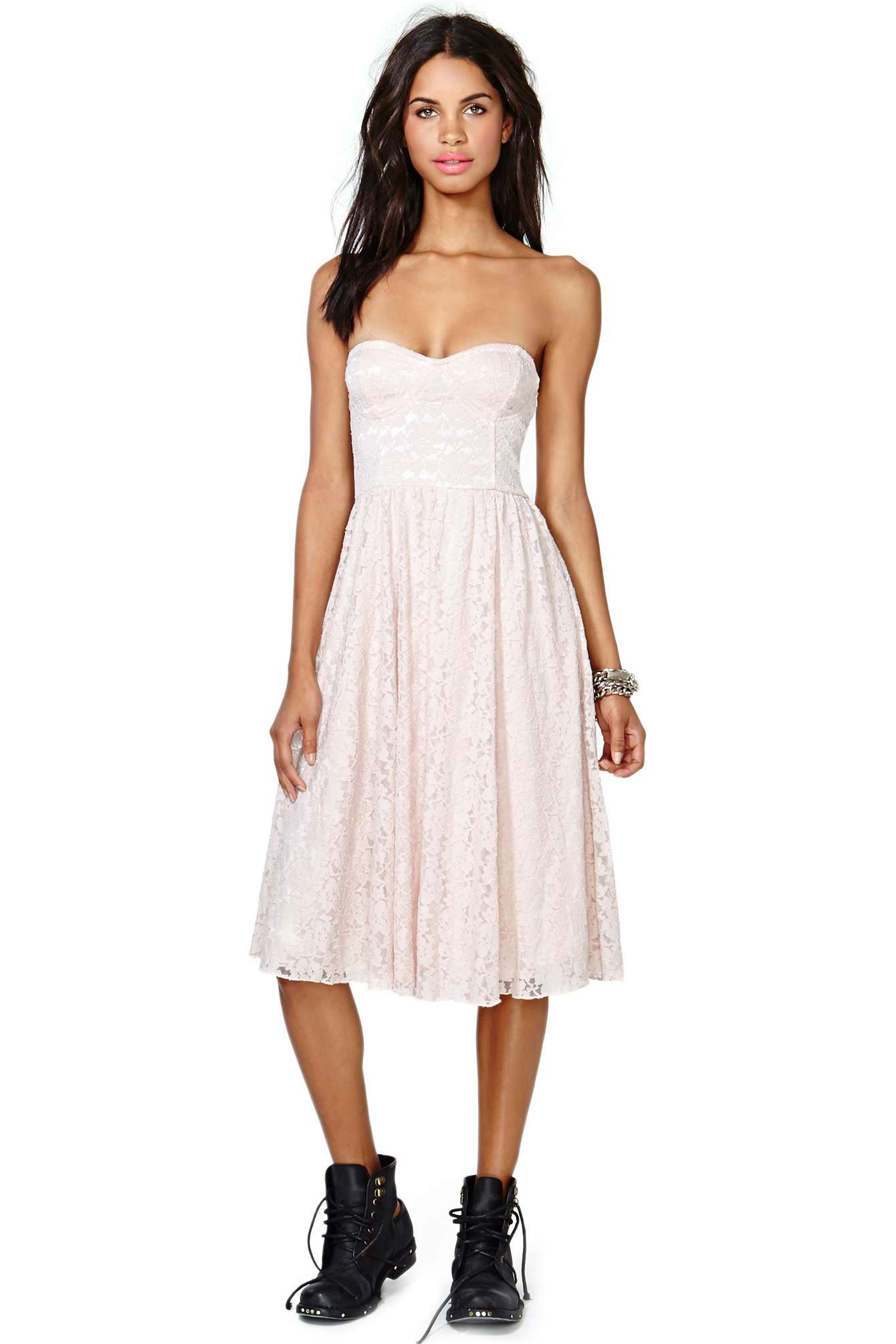White Strapless Sundress - Dress images