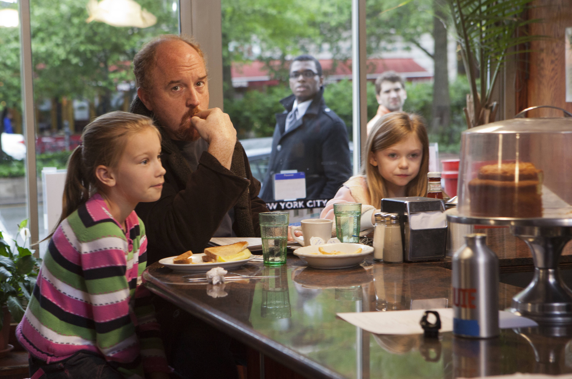 Louis C.K. and his daughters