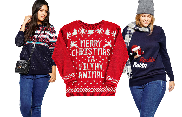 """33 ugly christmas sweaters for plus-size babes, because """"ugly"""" is"""