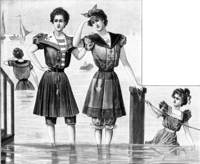 064971fdcb Bathing Suit Trends Over History From Bathing Skirts To Plus-Size Bikinis  Sc 1 St Bustle. image number 29 of victorian swimsuit costume ...