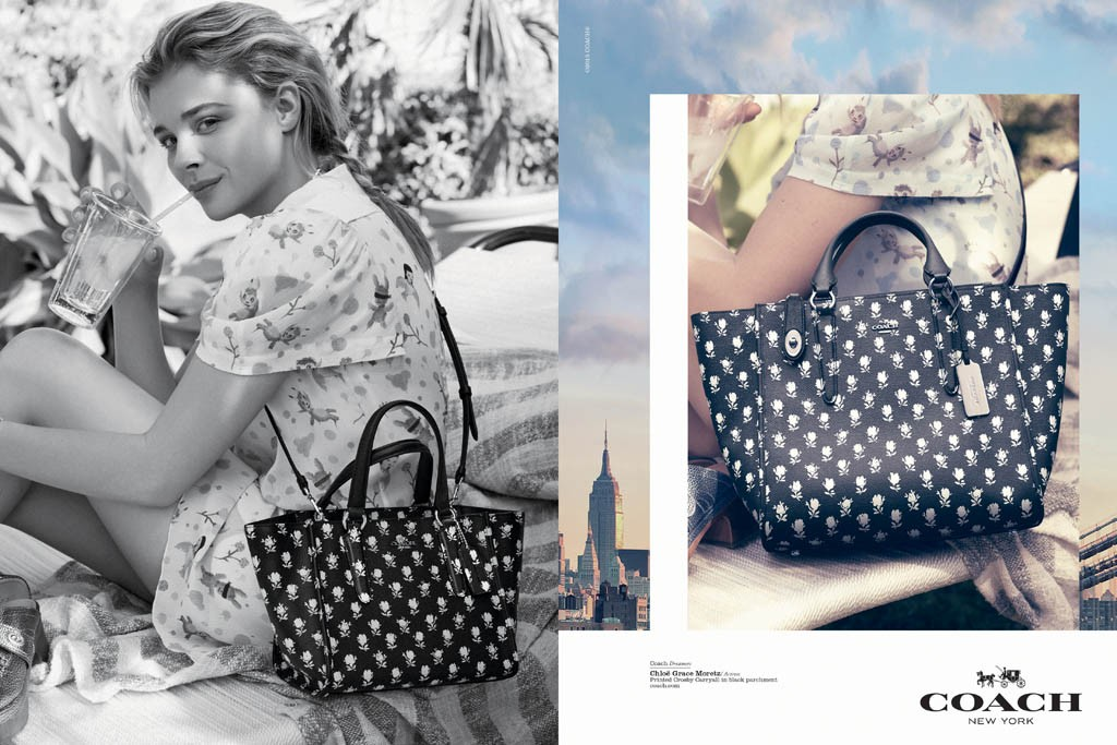 "choloe bag - Coach's Chloe Grace Moretz And Kid Cudi ""Dreamers"" Campaign ..."