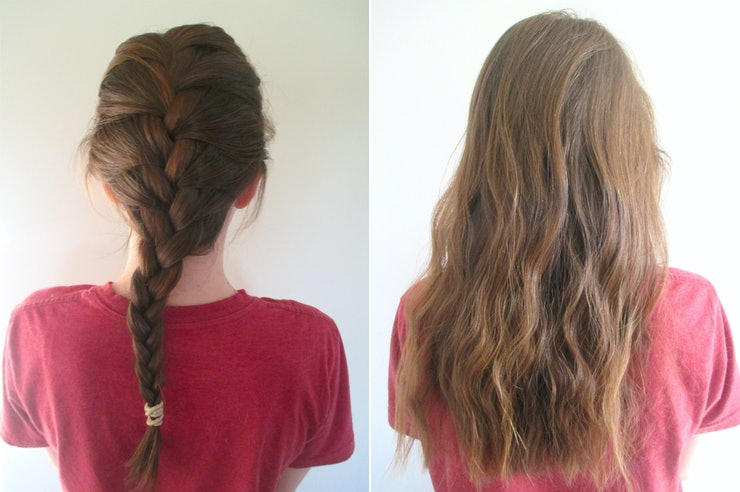 How to get wavy hair overnight broken down by 4 different types 4 french braid urmus Image collections