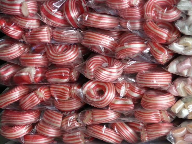 bastoes de doces estragam os dentes