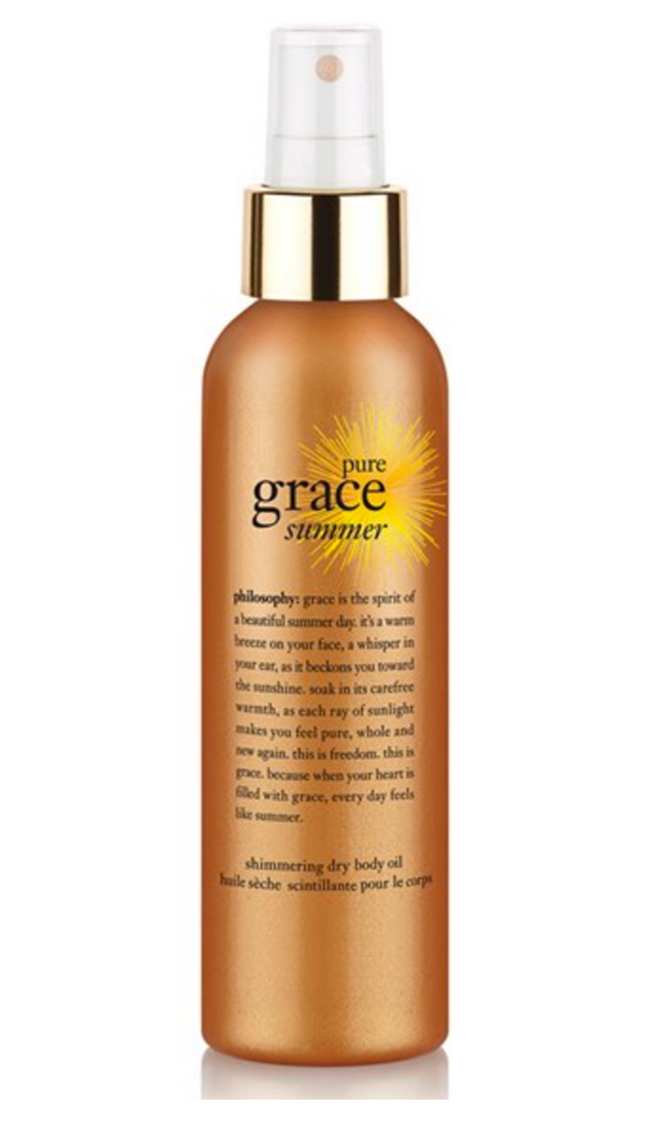 Philosophy Pure Grace Summer Shimmering Dry Body Oil, $29, Amazon