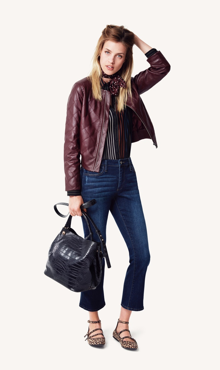 Leather jacket target - Quilted Faux Leather Bomber 39 99 Target Com