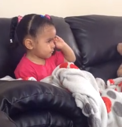 This Little Girl Crying Over Mufasa S Death In The Lion