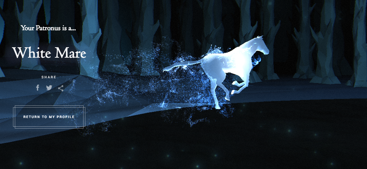 Image result for pottermore patronus