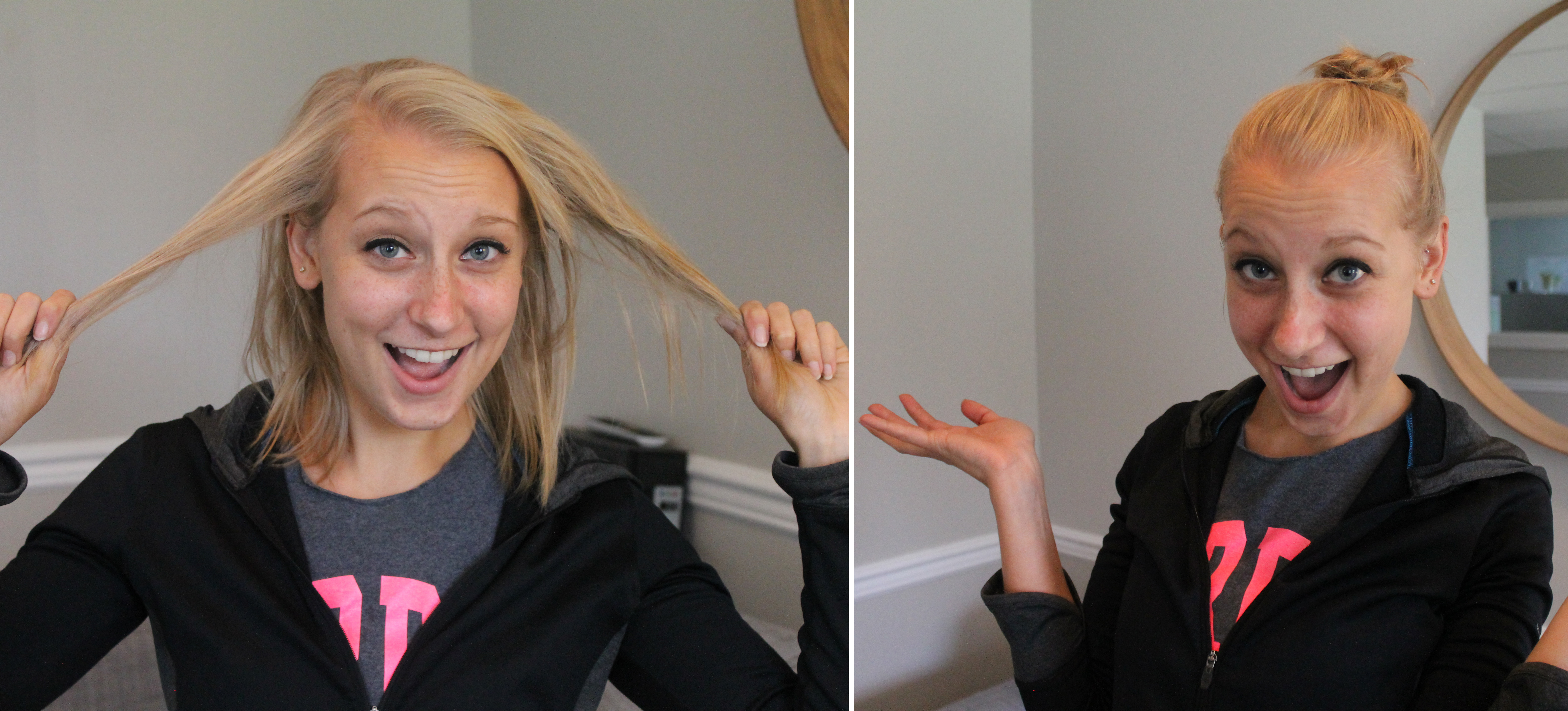 How To Do A Bun With Short Hair In Two Different Styles