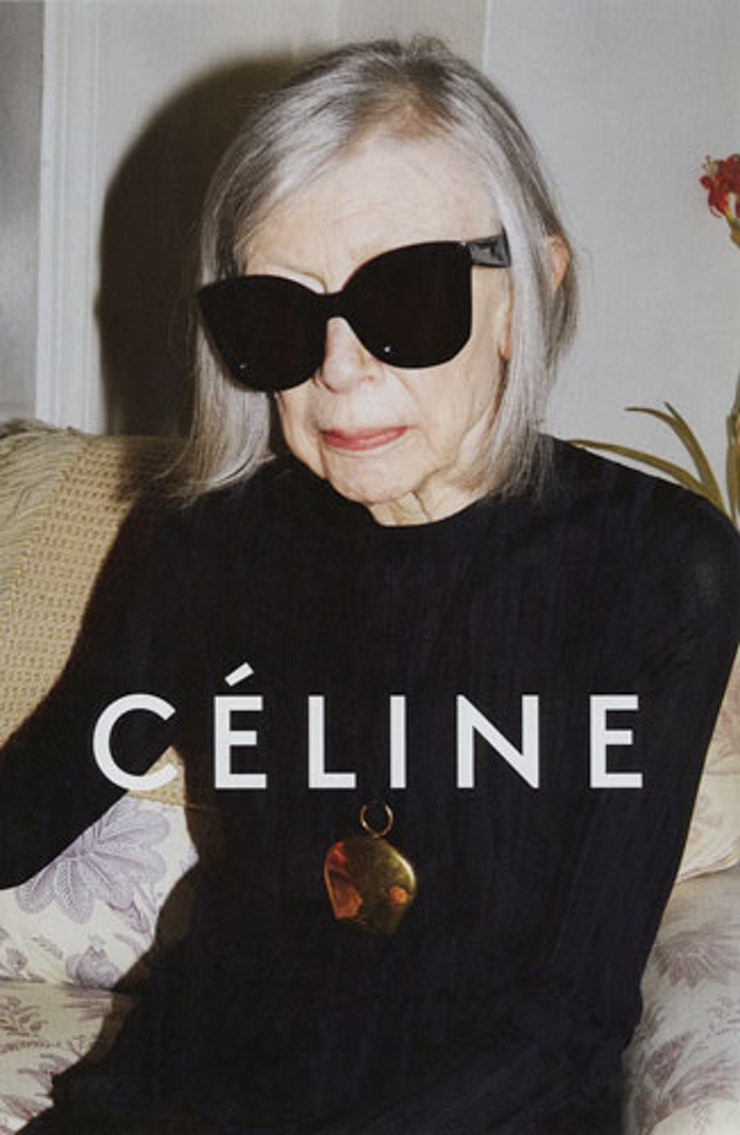 times joan didion was the coolest writer of all time this past year the french fashion label ceacuteline revealed its latest cover girl joan didion sporting a pair of black sunglasses