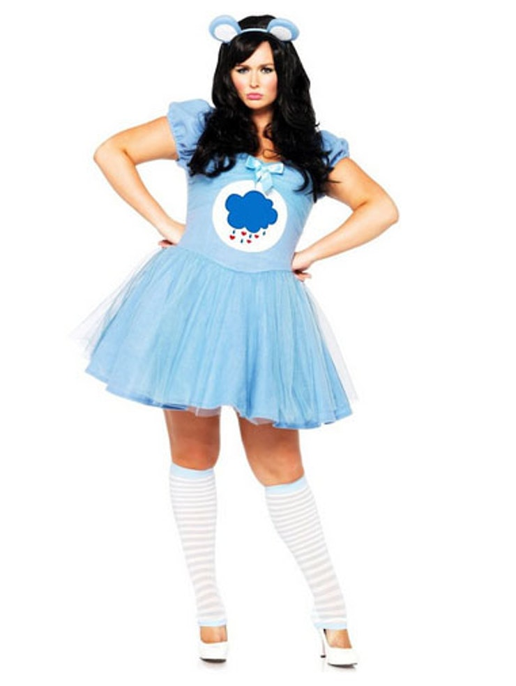 at you in this absolutely adorable and sexy version of grumpy bear from your favorite 80s cartoon this one can be purchased in sizes 1x to 4x - Cheap Plus Size Halloween Costumes 4x