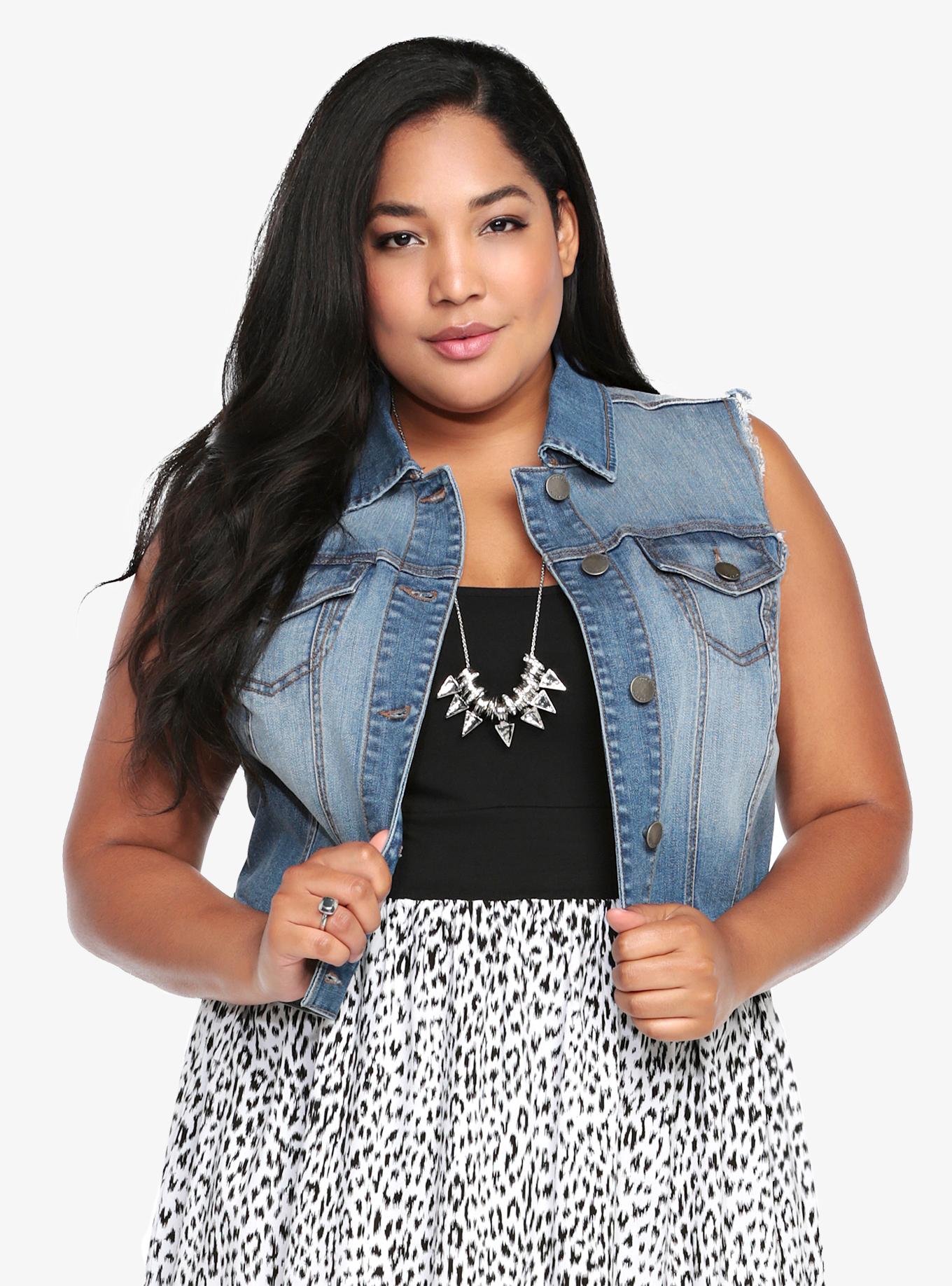 Plus Size Blue Jean Jacket Dress