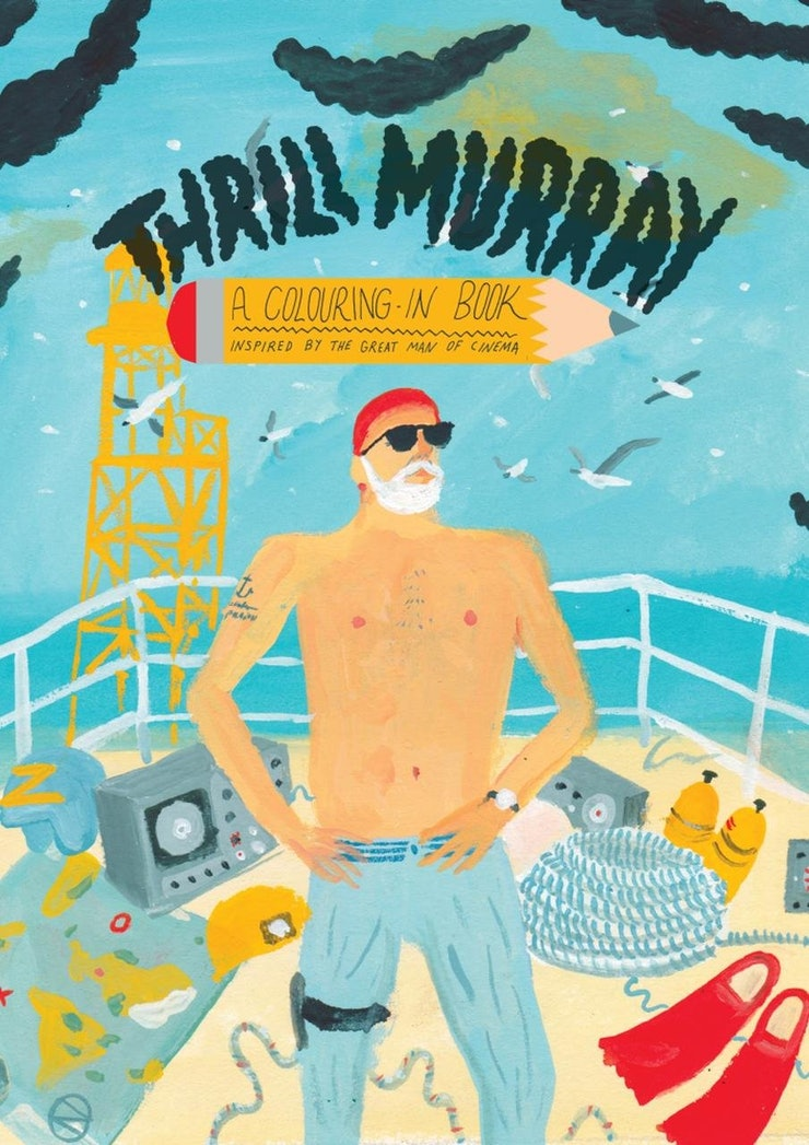 A Coloring Book Devoted To Bill Murray What More Do You Need Know Spreads Include Scenes From Classics Like Ghostbusters And Groundhog Day