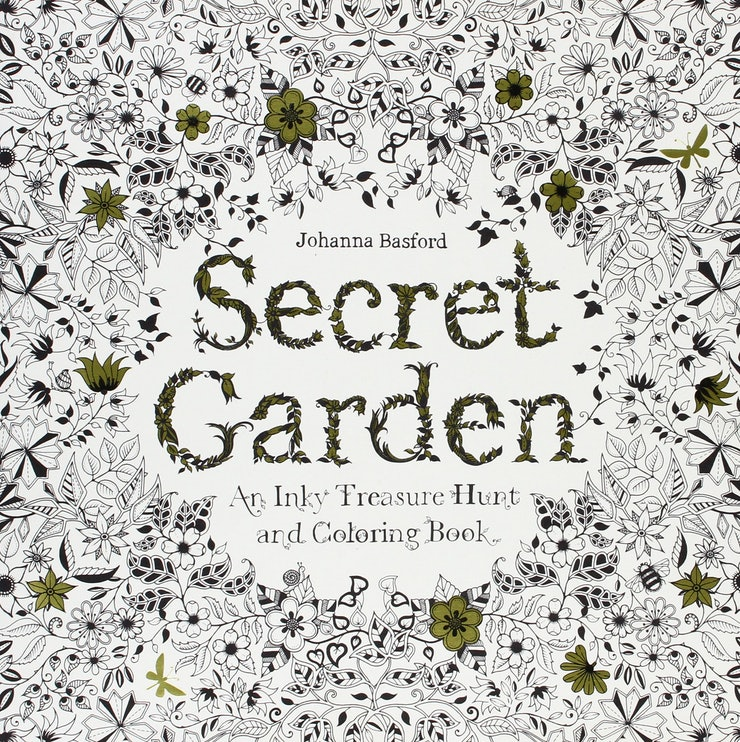 Secret Garden And Inky Treasure Hunt Coloring Book By Johanna Basford