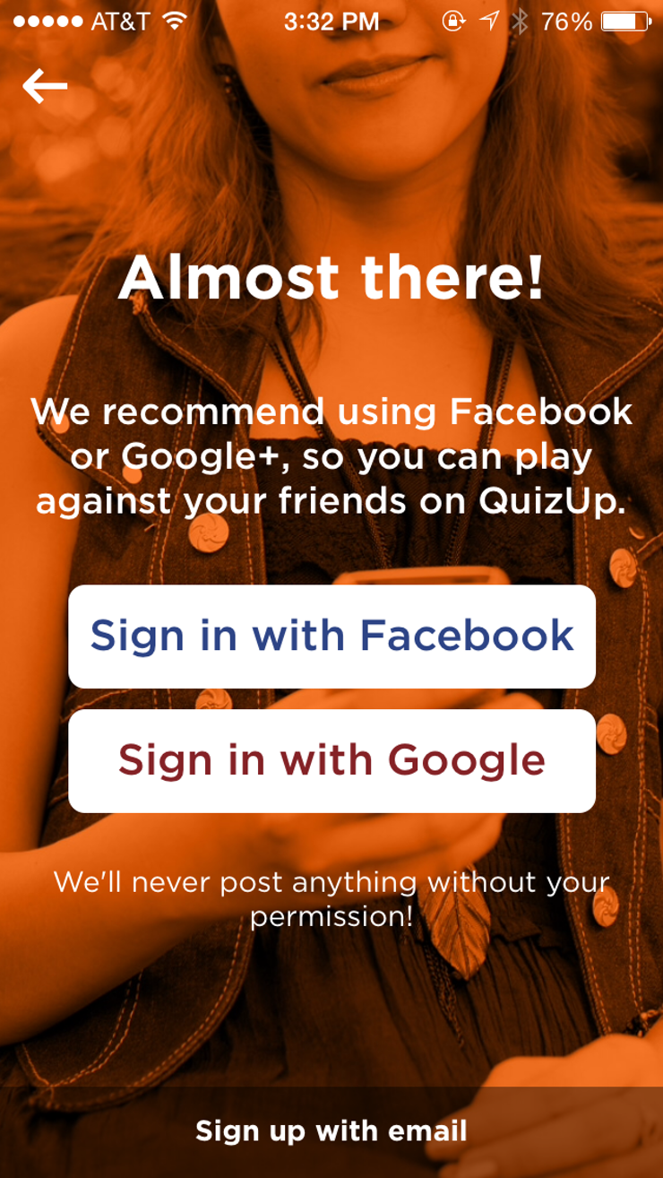 While I'm Also Usually Against Signing In To Apps With Facebook, I Figured  I'd Get The Fullmunication Experience By Allowing It Sigh