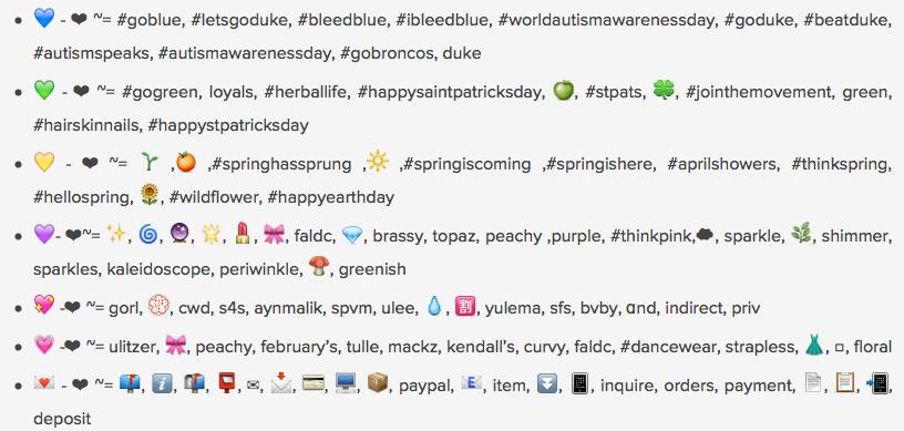 What Does Each Emoji Heart Mean? Instagram Breaks It Down For Us ...