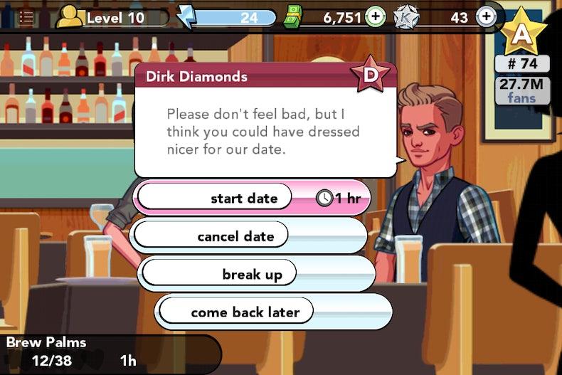 kim kardashian game dating levels