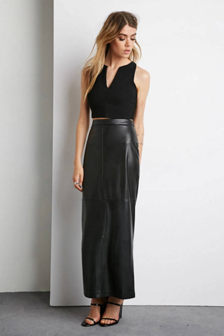Leather Maxi Skirt - Dress Ala