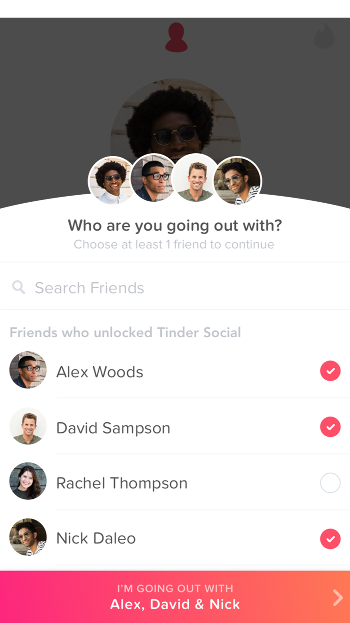 how does tinder social work