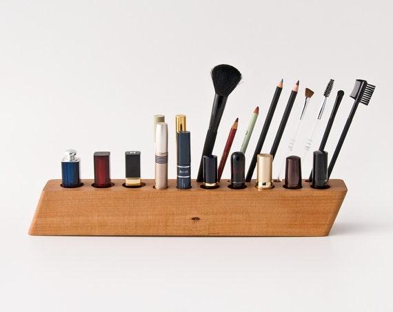 makeup organizer wood. pear wood makeup organizer, $139.60, etsy.com organizer ,