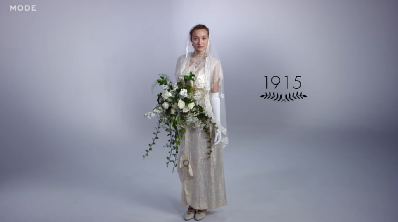 100 Years Of Wedding Gowns Shows That Some Bridal Styles Are - Wedding Dress 100