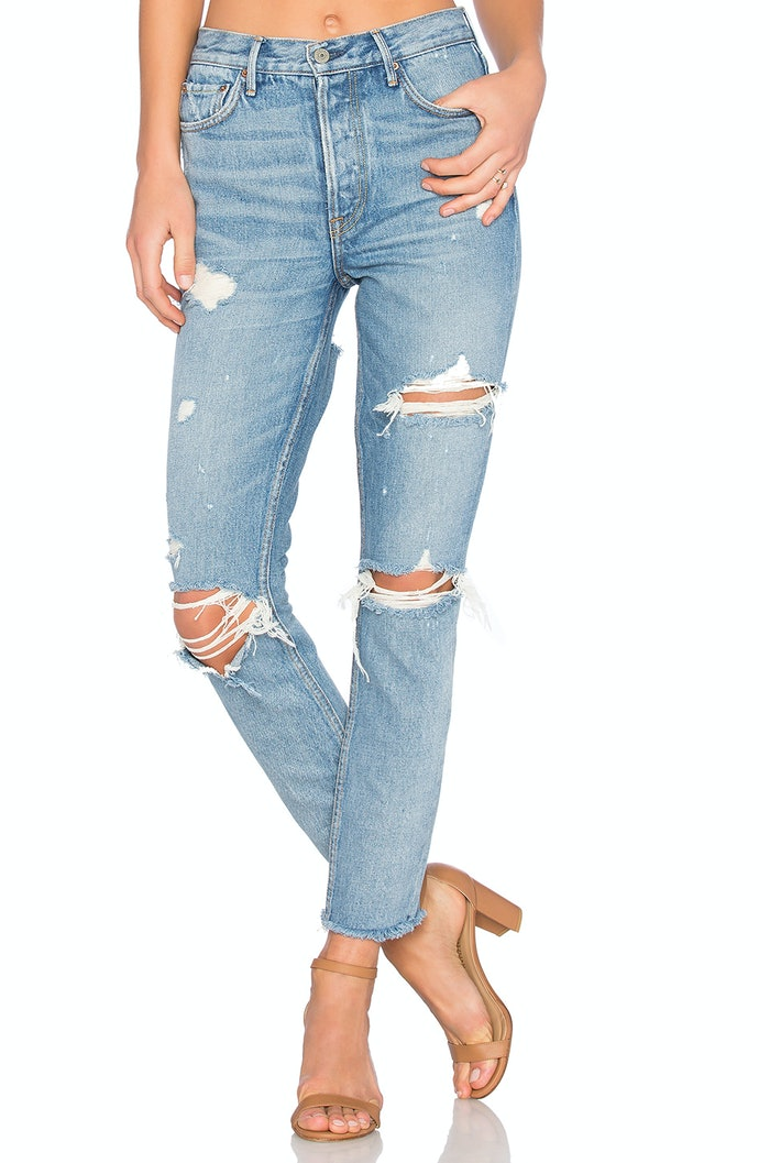 Where To Buy Kylie Jenneru0026#39;s Jeans With Holes In The Back For That Sexy Denim Look u2014 PHOTOS | Bustle