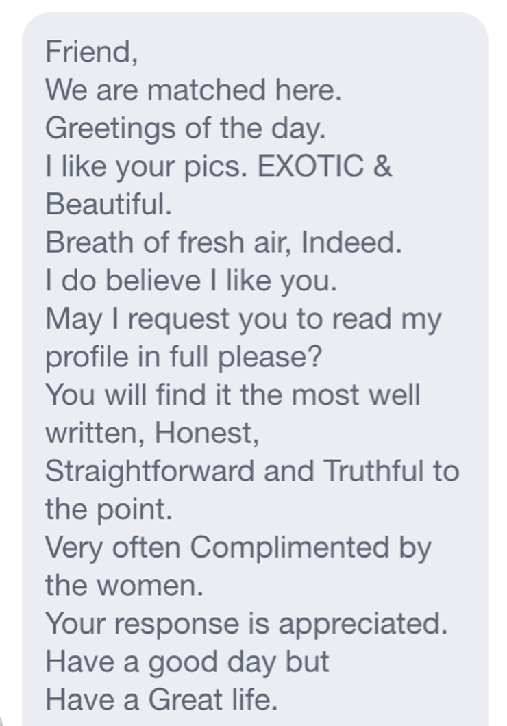 Can anyone help me write something better for my dating site profile (any help is appreciated)?
