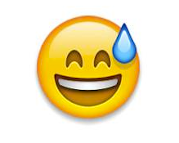 Image result for smiling emoji with sweat
