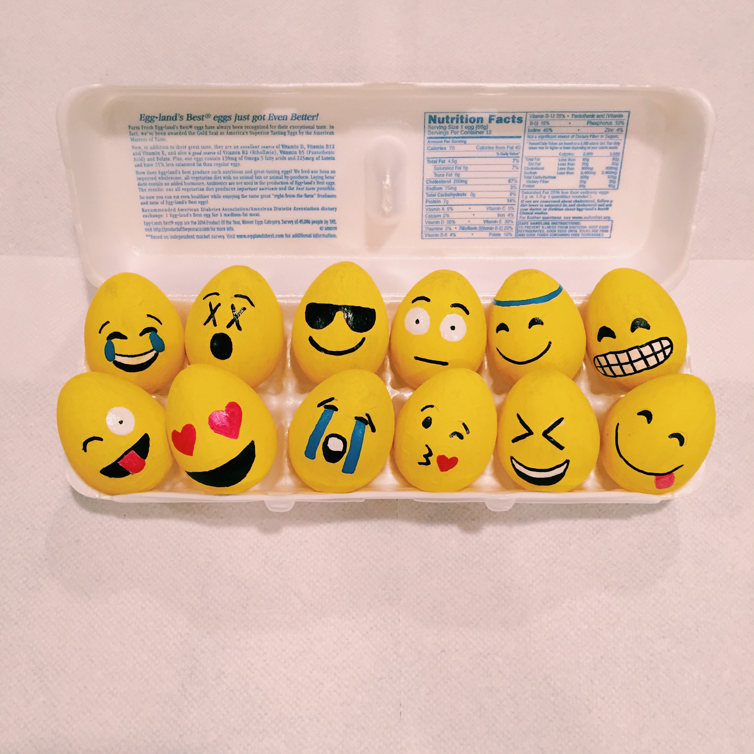 Emoji Easter Eggs Are The Coolest Things Youll Find In Your Basket This Year Make Them Just Two Steps