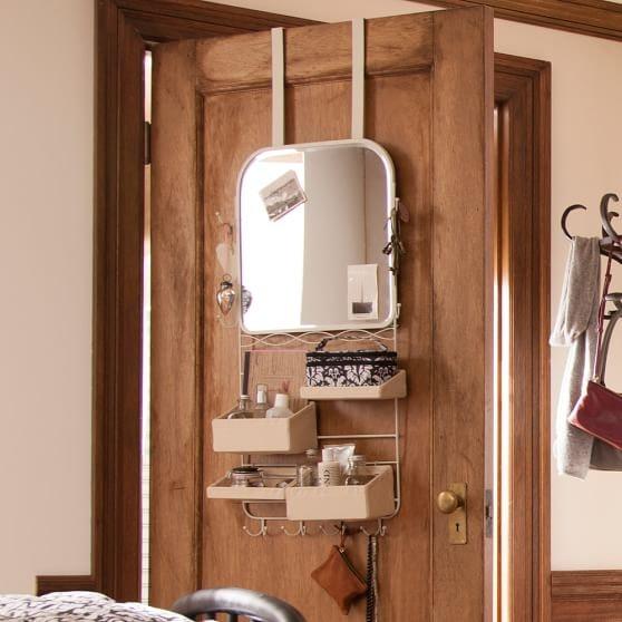 3. Over The Door Mirror Rack