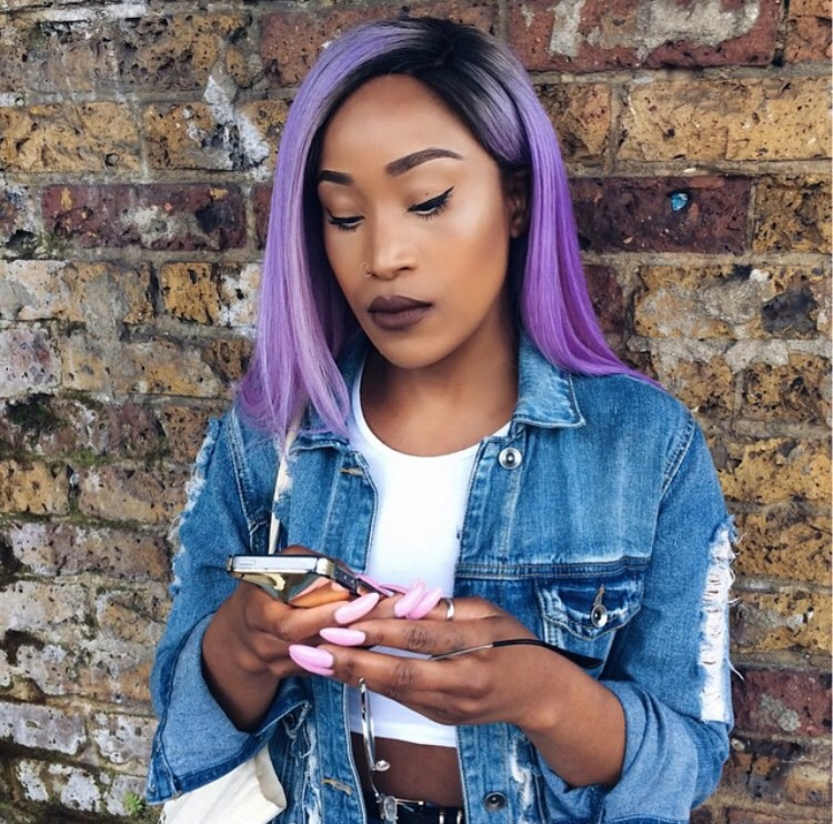 Deep Plum Purple Tint Hair For Fall By On Ig Rose Gold Flamboyage