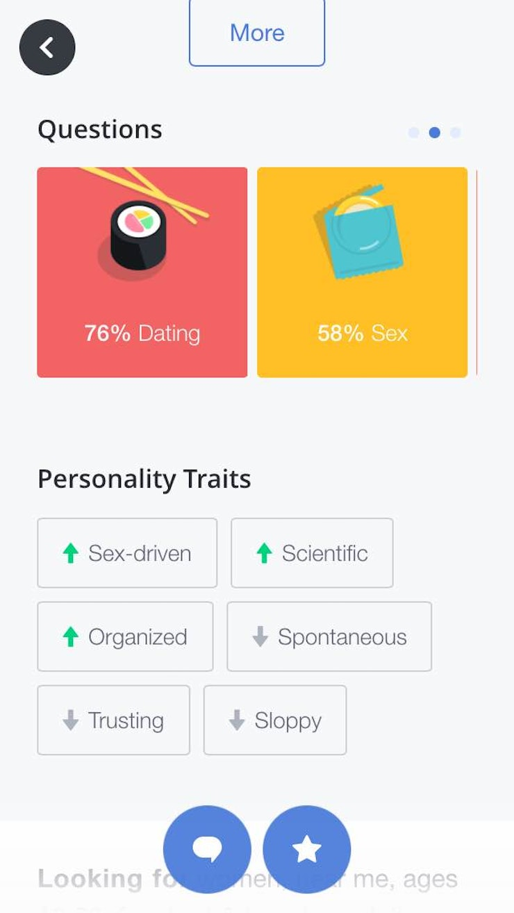 how okcupid s new app features will you a better match some of the personality traits the app will clue you into include whether a person is liberal or conservative messy or neat and dominant or passive