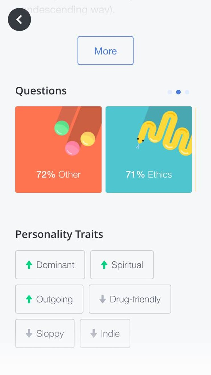 how okcupid s new app features will you a better match take this guy for instance we match up pretty well when it comes to our ethical beliefs and he s outgoing which most likely means he s fun to talk to